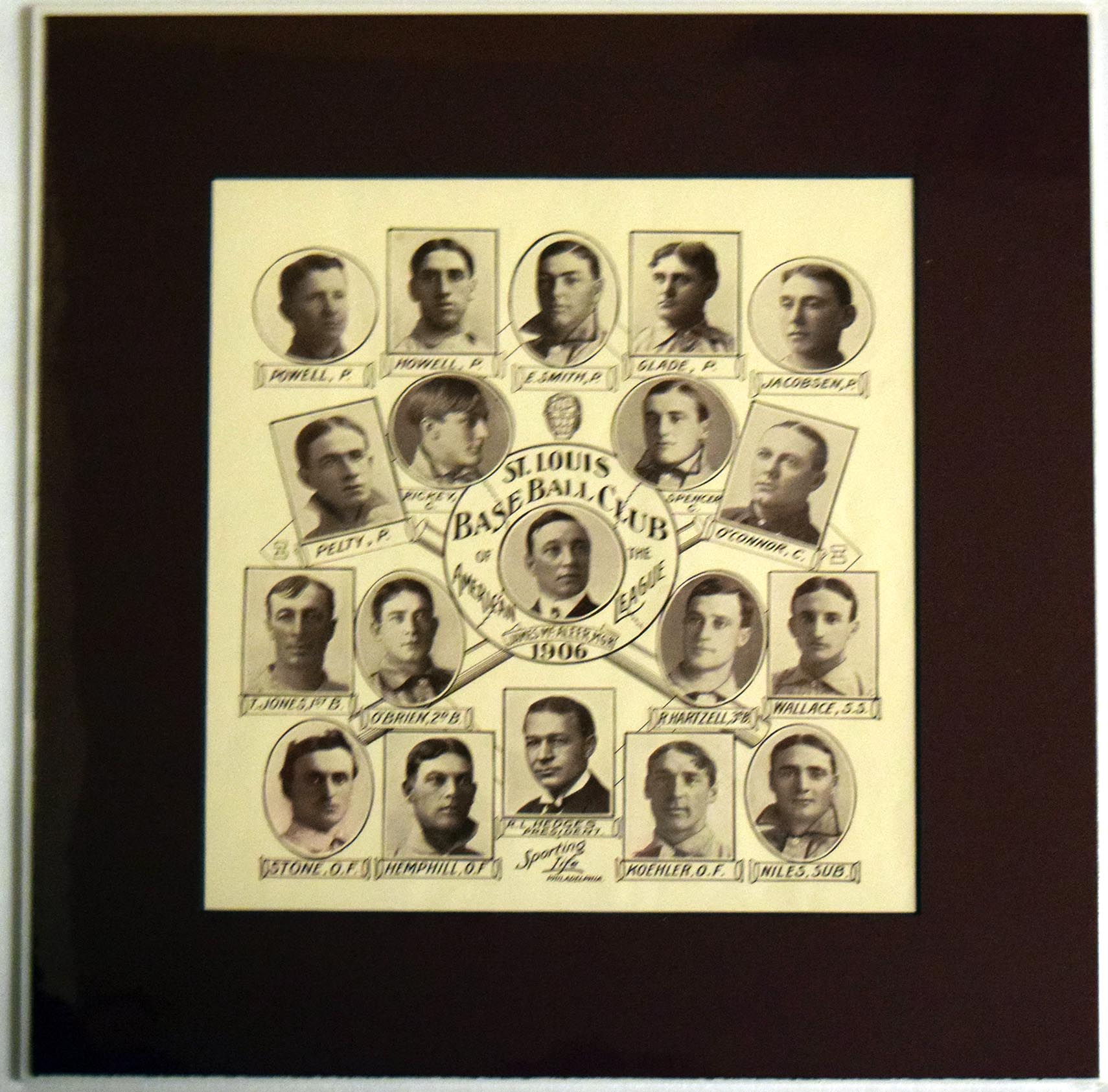 Lot #12 1906 W601  St Louis Browns w/Branch Rickey RC! Cond: NM*