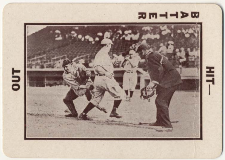 Lot #79 1913 National Game # 50 Sliding Play At Plate, Umpire At Right Cond: VG