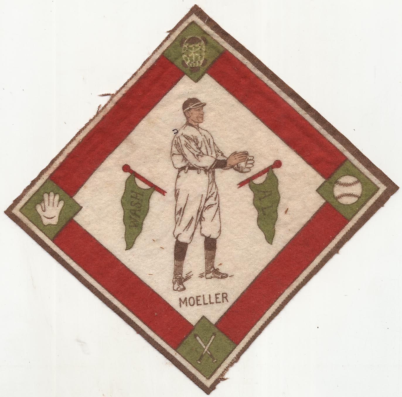 Lot #91 1914 B18 Blanket # 56.2 Danny Moeller (green pennants) Cond: Ex