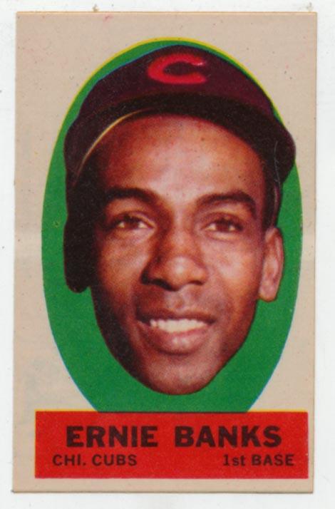 1963 Topps Peel Off 5 Ernie Banks Ex-Mt+
