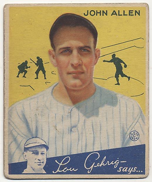 Lot #388 1934 Goudey # 42 Allen Cond: Fair