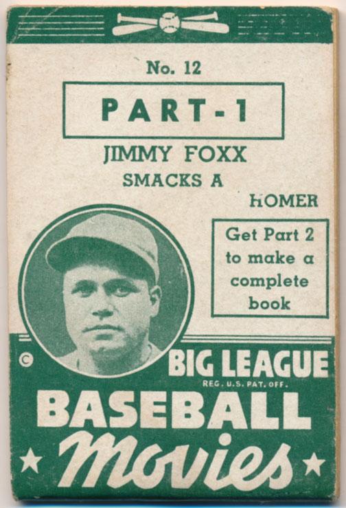 1938 Goudey Flip Movies 12.1 Foxx VG+