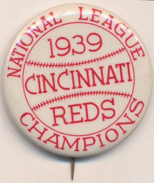 Lot #1481 1939 Pin  Cincinnati Reds World Series Cond: Nm-Mt