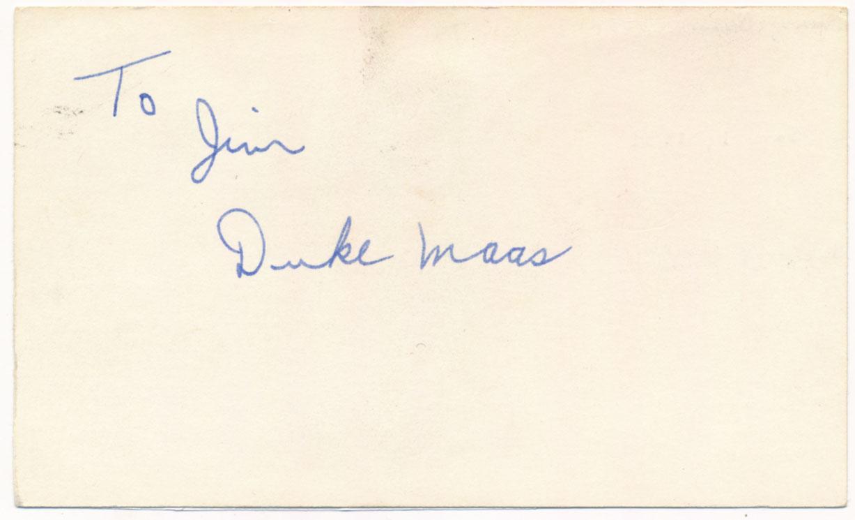 3 x 5  Maas, Duke 9