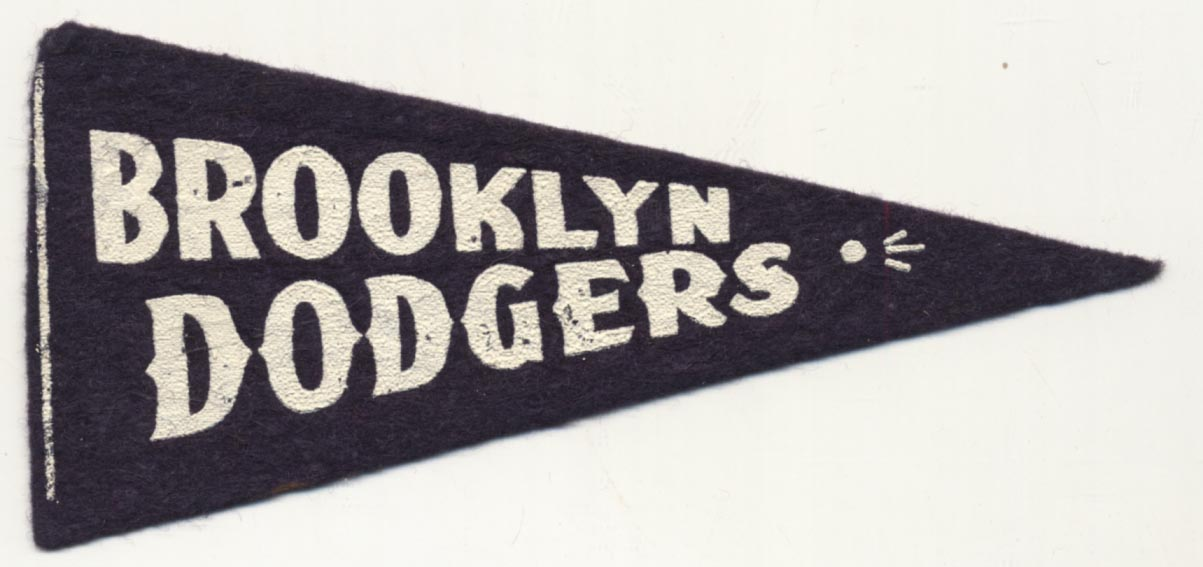1940 Mini Pennant  Brooklyn Dodgers 5 1/2 inch Ex-Mt