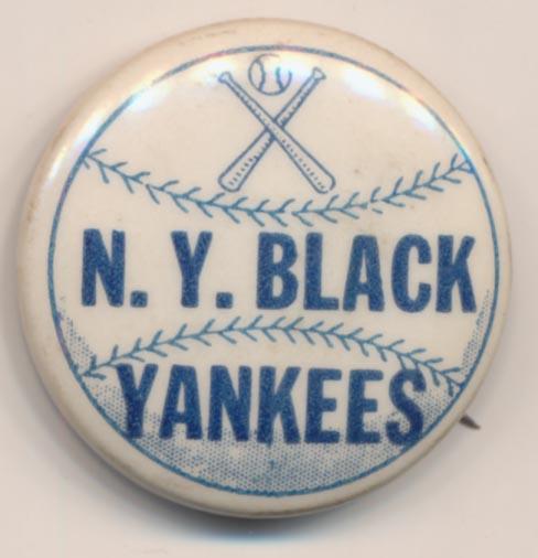 Lot #1482 1940 Pin  NY Black Yankees Cond: NM
