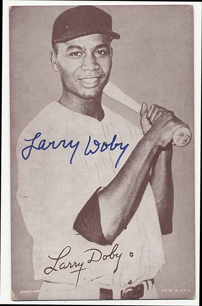 Lot #69 1947 Exhibit  Doby (postcard back) (JSA LOA) Cond: 9.5