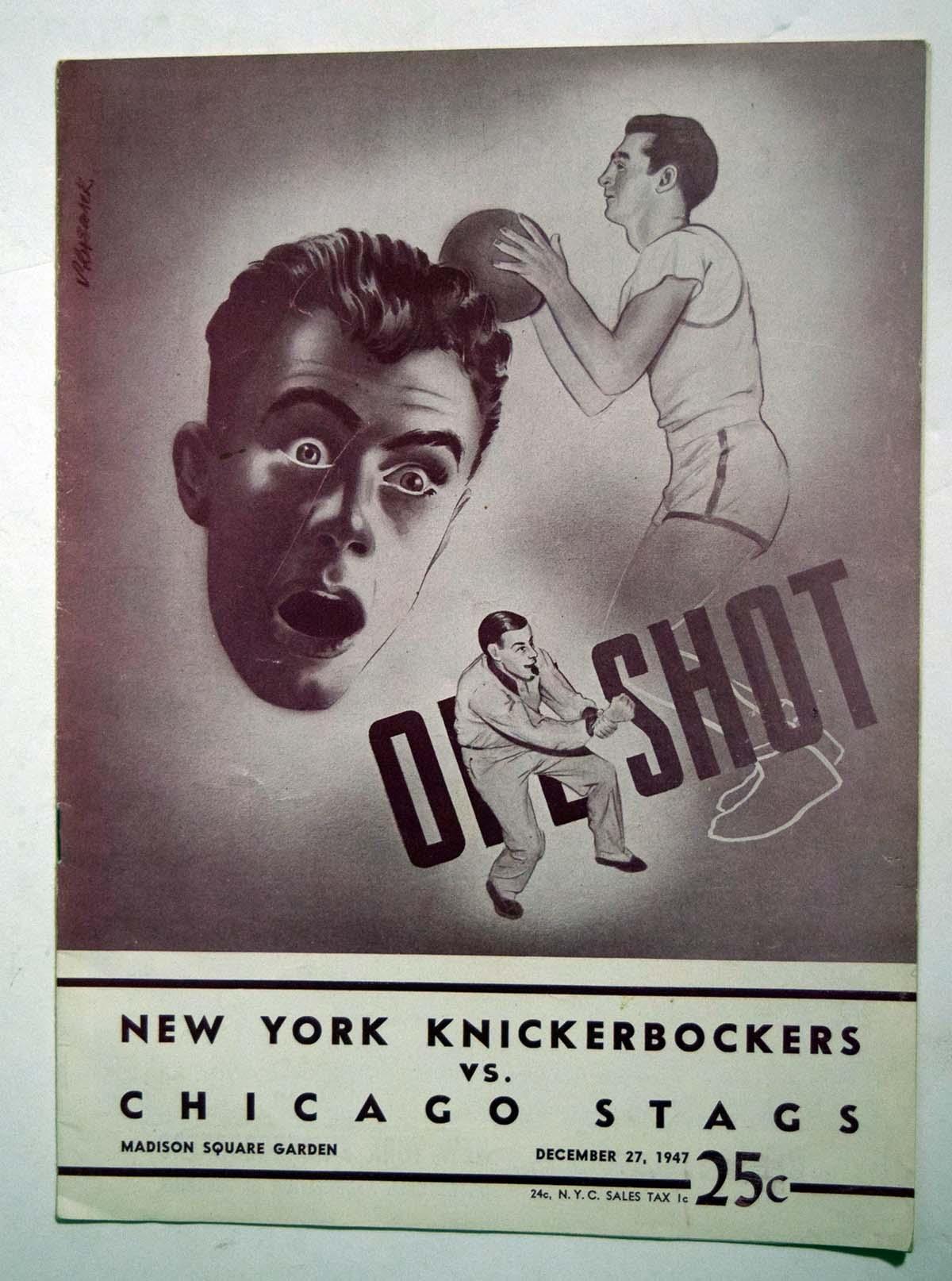 Lot #855 1947 Program  Knicks - Stags (12/27/47) Cond: Ex+