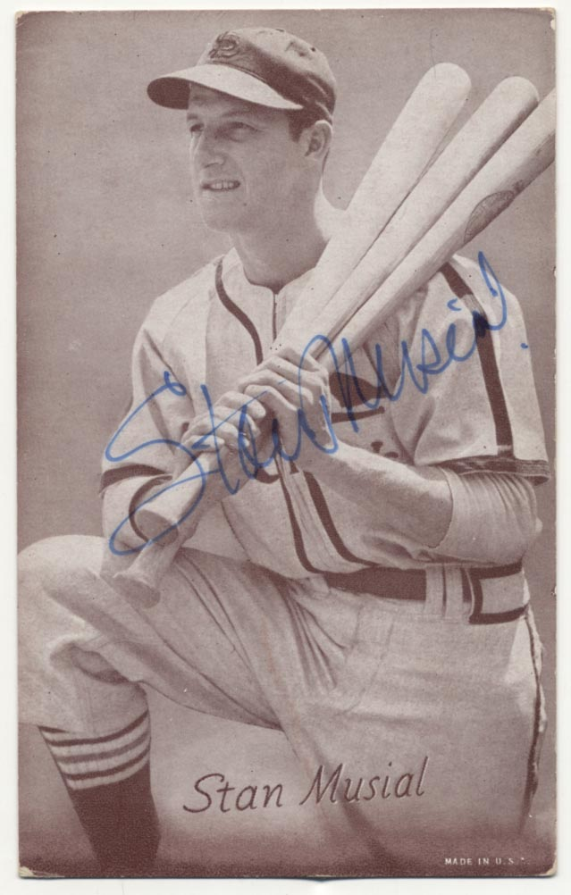 Lot #10 1947 Exhibit  Musial JSA LOA Cond: 9