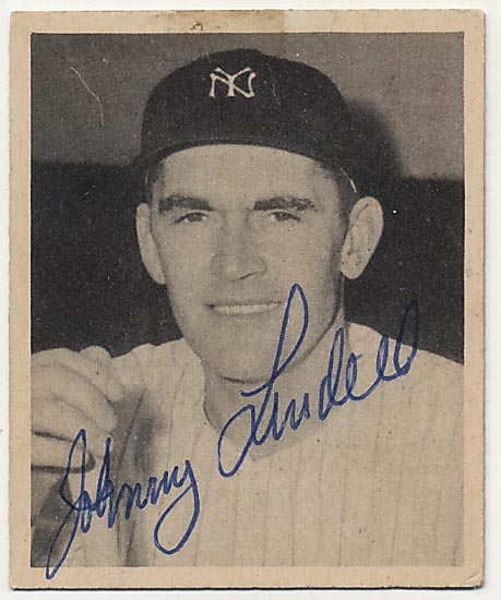 Lot #4 1948 Bowman # 11 Lindell Cond: 9.5