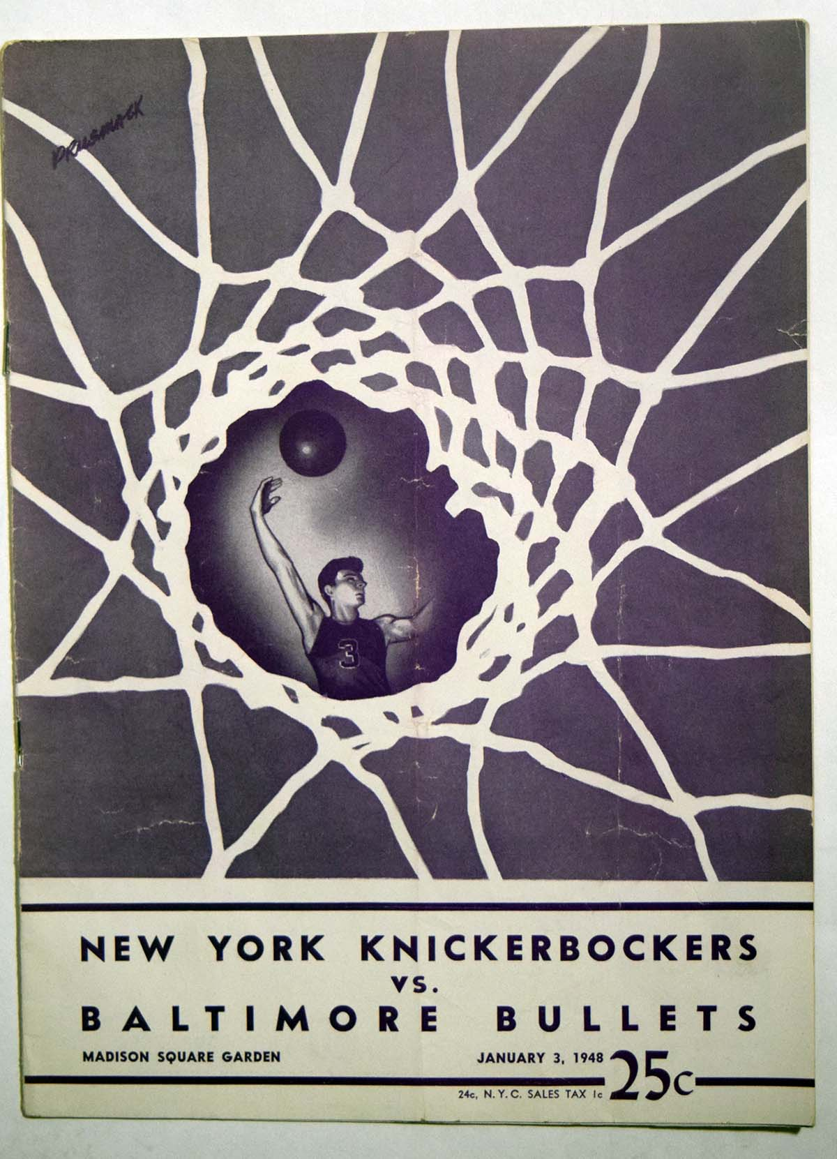 Lot #965 1948 Program  Knicks - Bullets (01/03/47 Cond: VG