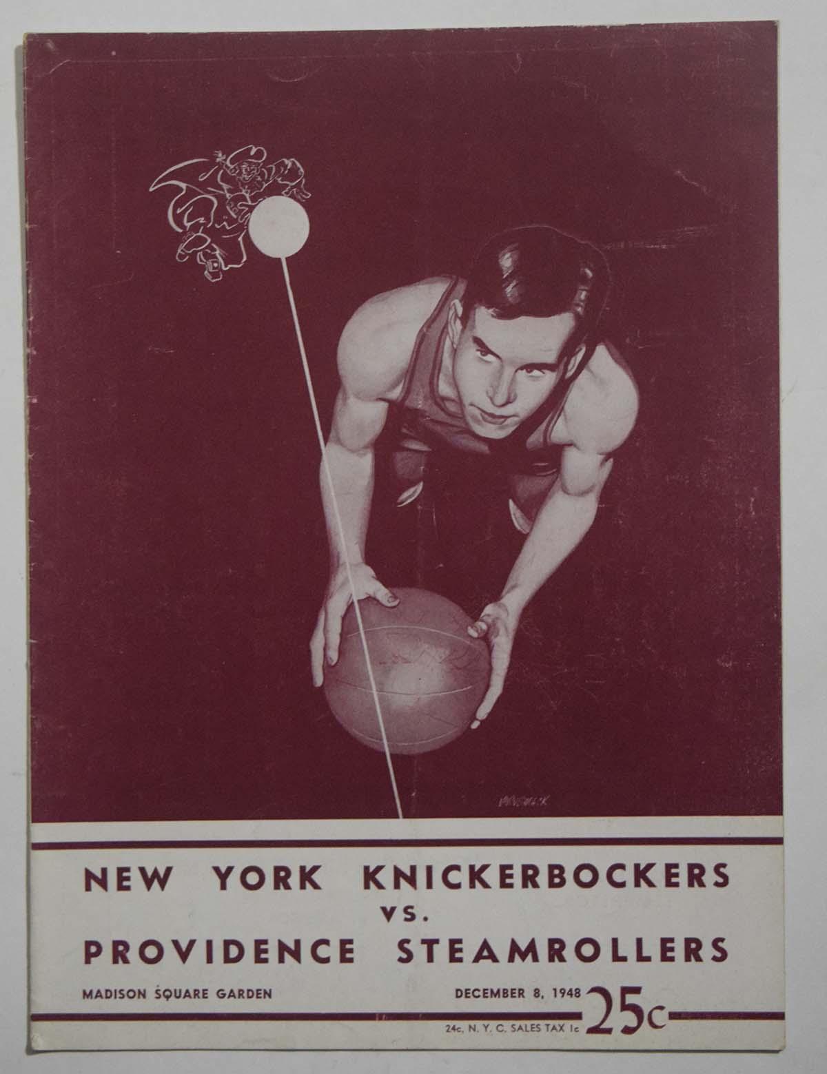 Lot #966 1948 Program  Knicks - Steamrollers (12/08/48) Cond: VG-Ex/Ex