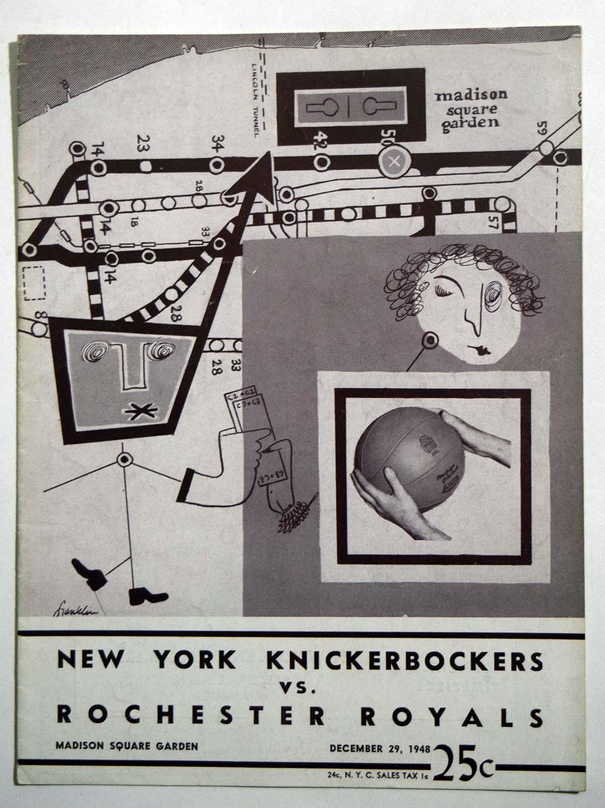 Lot #858 1948 Program  Knicks - Royals (12/29/48) Cond: Ex+