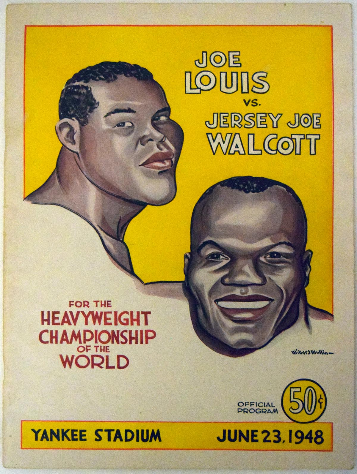 Lot #1007 1948    Louis/Walcott Fight Program (scarce) Cond: Ex