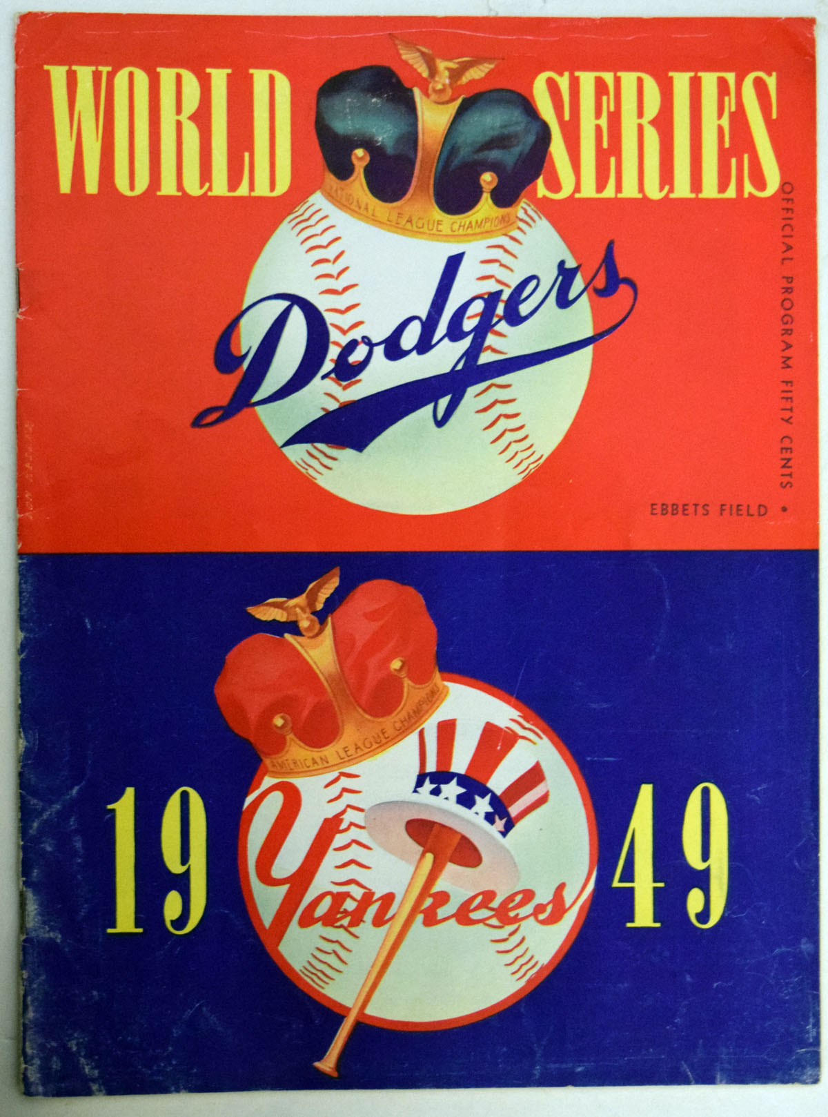 Lot #1556 1949 WSP  At Yankees Cond: VG+