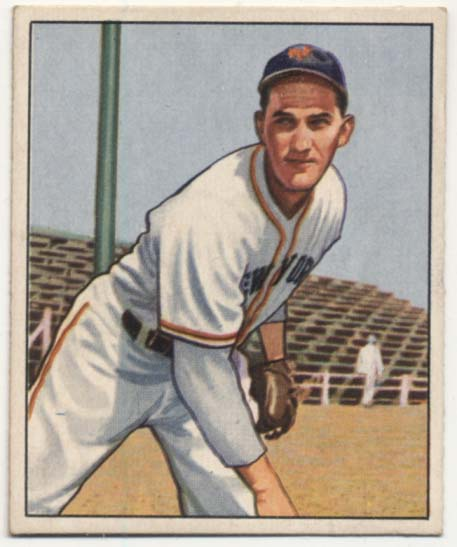Lot #218 1950 Bowman # 66 Larry Jansen Cond: Ex-Mt