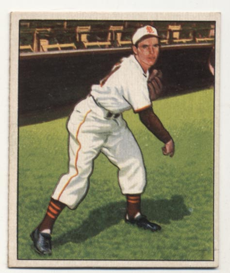 Lot #212 1950 Bowman # 51 Ned Garver Cond: Ex-Mt