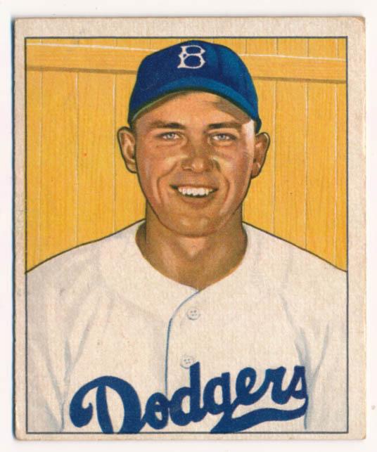 Lot #222 1950 Bowman # 112 Gil Hodges Cond: VG-Ex/Ex