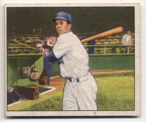 Lot #221 1950 Bowman # 77 Duke Snider Cond: VG