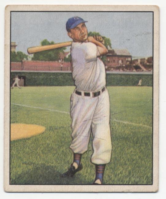 1950 Bowman 25 Hank Sauer VG-Ex/Ex