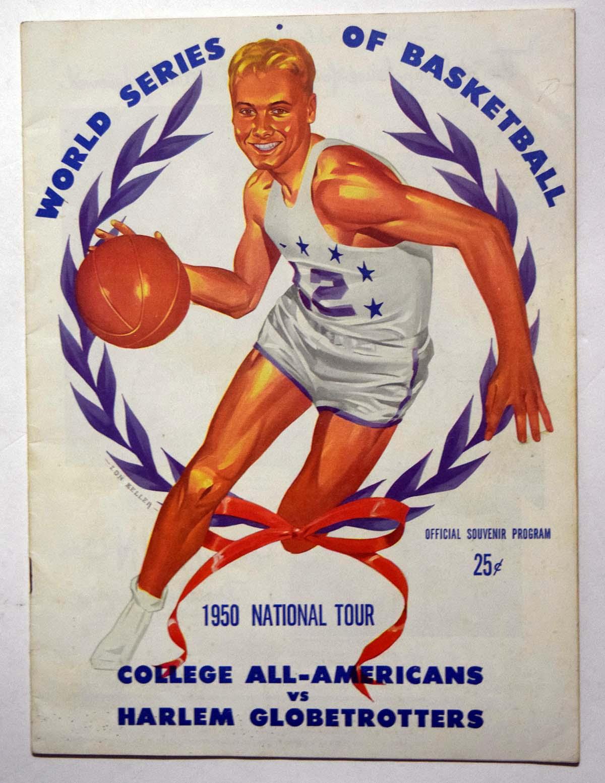 Lot #972 1950 Program  College All Stars/Harlem Globetrotters Cond: Ex