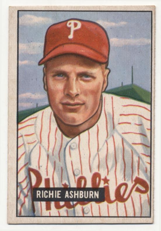 Lot #273 1951 Bowman # 186 Ashburn Cond: Ex
