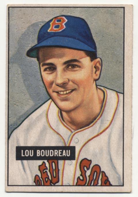 Lot #265 1951 Bowman # 62 Boudreau Cond: VG+