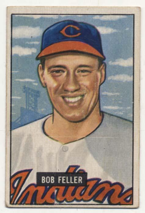 Lot #256 1951 Bowman # 30 Feller Cond: VG+