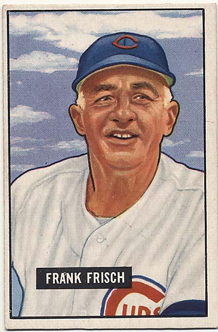 Lot #337 1951 Bowman # 282 Frisch Cond: Ex+