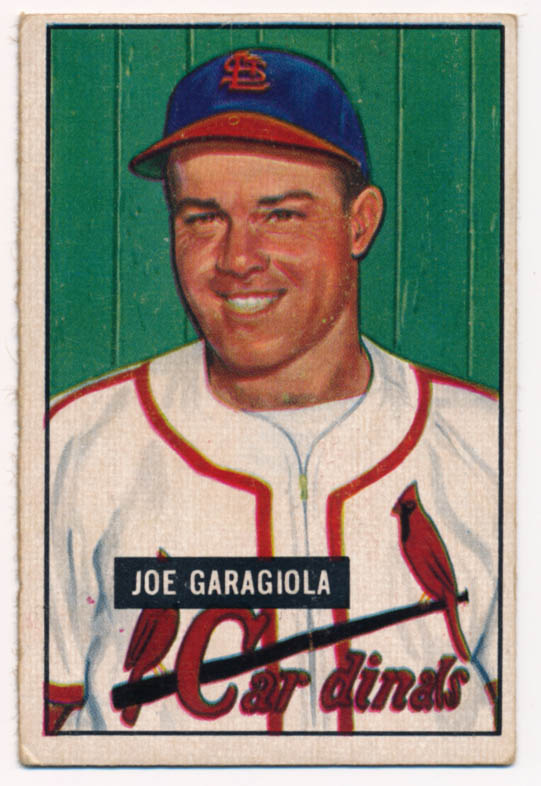 Lot #272 1951 Bowman # 122 Garagiola RC Cond: VG-Ex/Ex