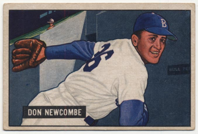 Lot #253 1951 Bowman # 6 Newcombe Cond: VG-Ex/Ex