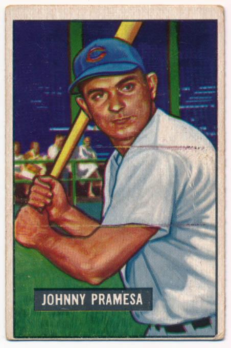 Lot #317 1951 Bowman # 324 Pramesa RC Cond: VG+