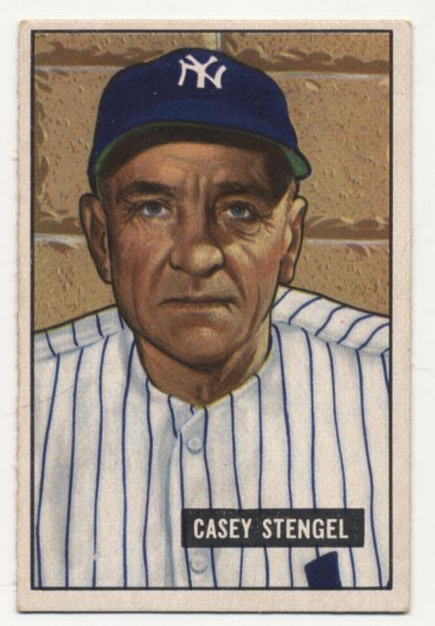 Lot #272 1951 Bowman # 181 Stengel Cond: Ex