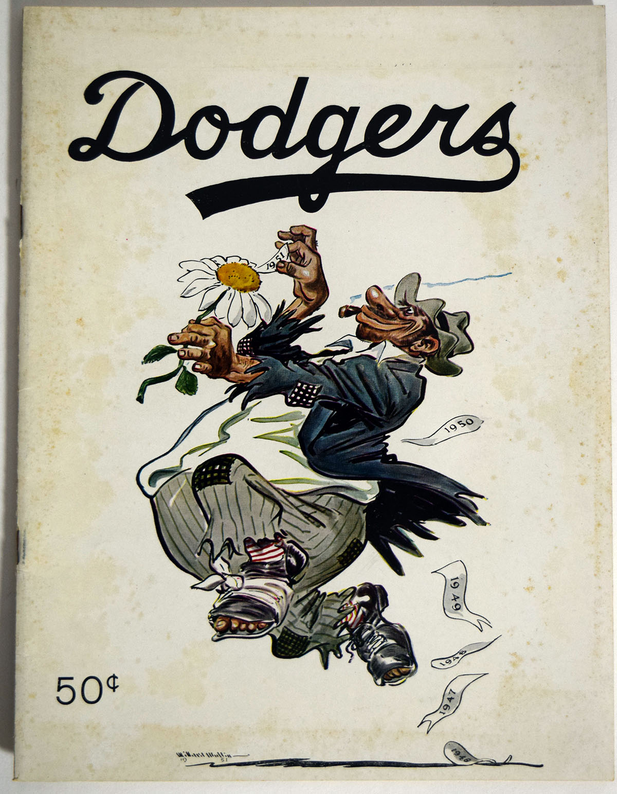 Lot #1404 1951 Yearbook  Brooklyn Dodgers Cond: Ex-Mt