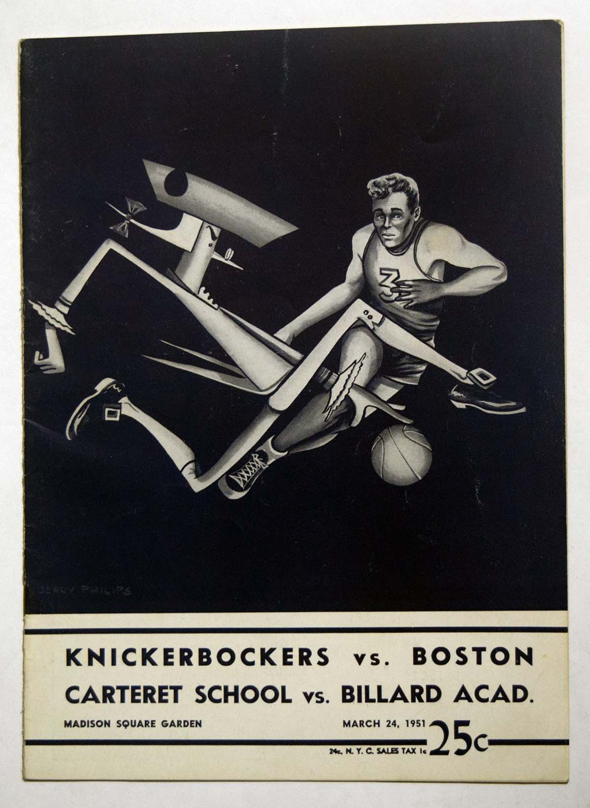 Lot #973 1951 Program  Knicks - Boston (03/24/51) Cond: Ex+