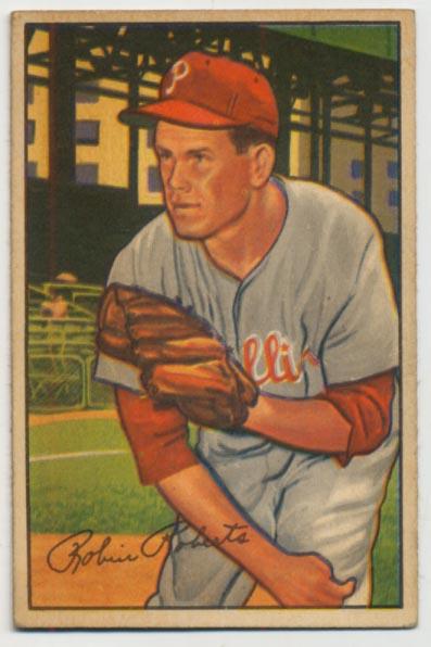 Lot #241 1952 Bowman # 4 Roberts Cond: VG-Ex/Ex