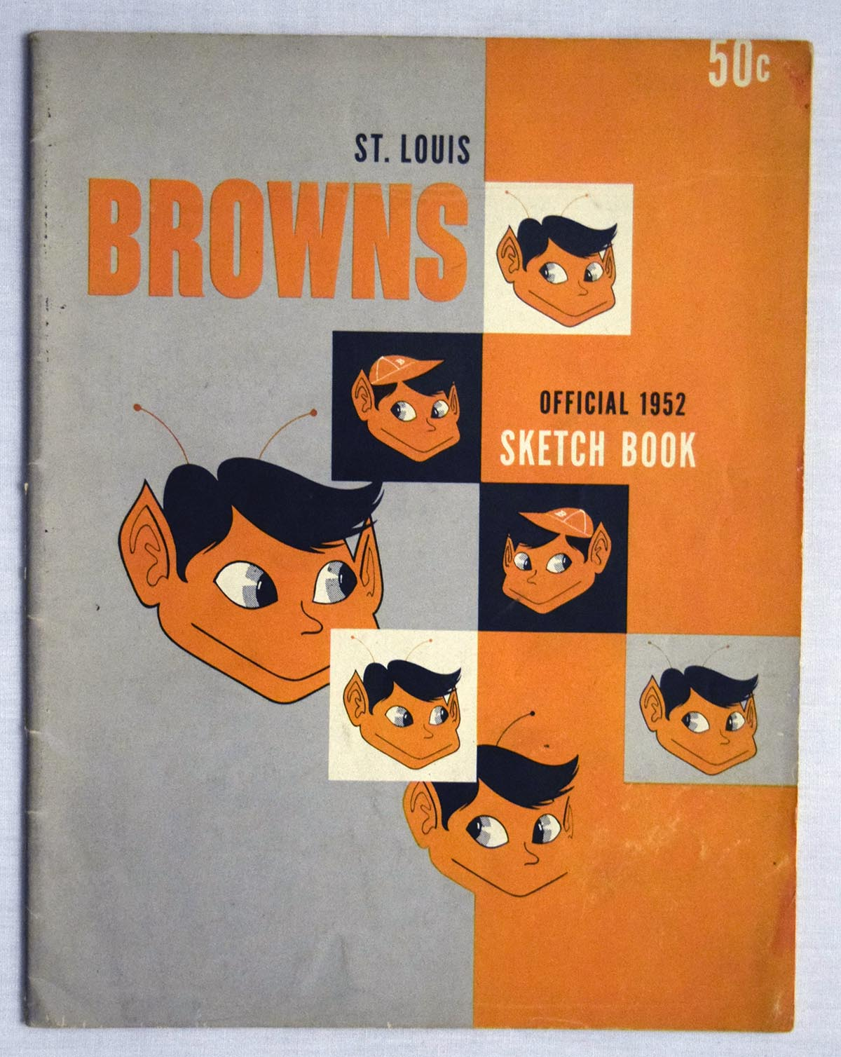 Lot #1406 1952 Yearbook  St. Louis Browns Cond: Ex