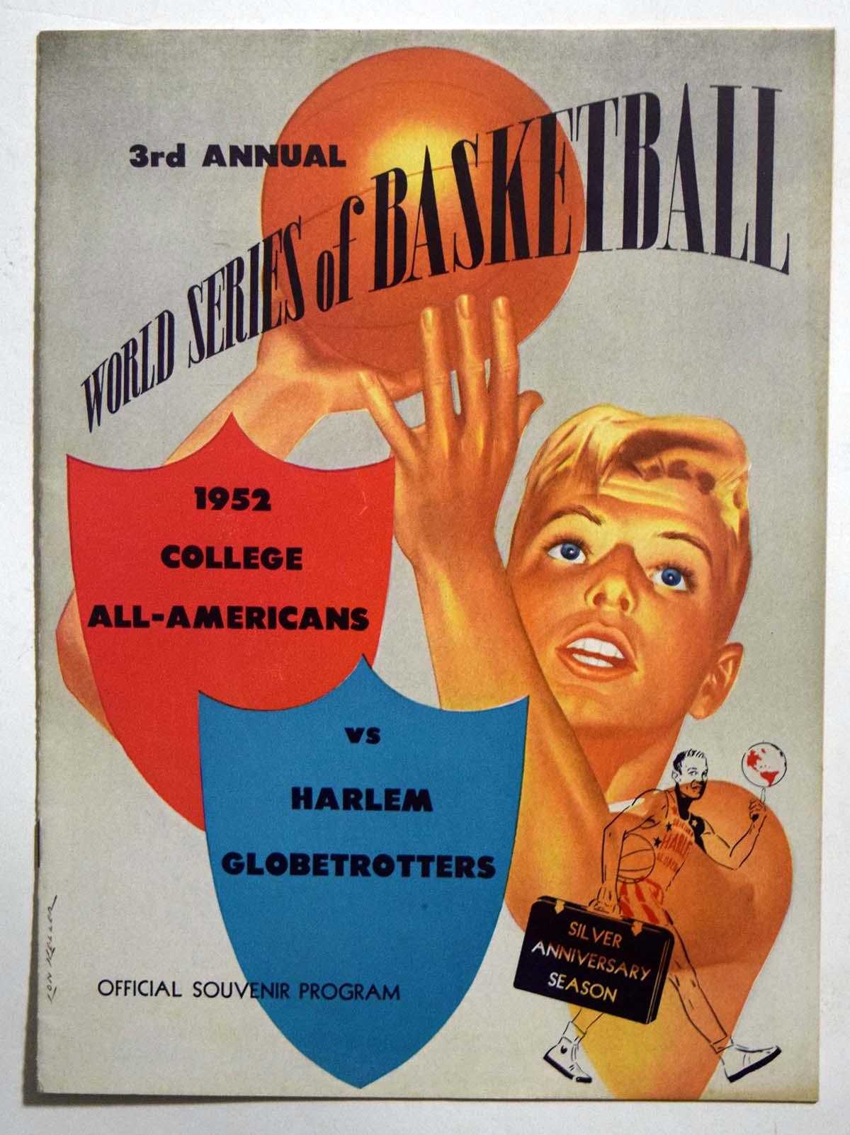 Lot #975 1952 Program  College All-Americans - Harlem Globetrotters Cond: Ex-Mt
