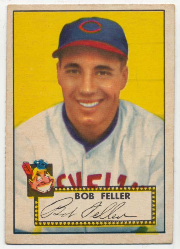 Lot #302 1952 Topps # 88 Feller Cond: VG-Ex/Ex