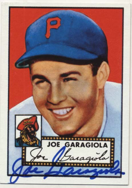 Lot #19 1952 Topps Reprint # 227 Garagiola  Cond: 9.5