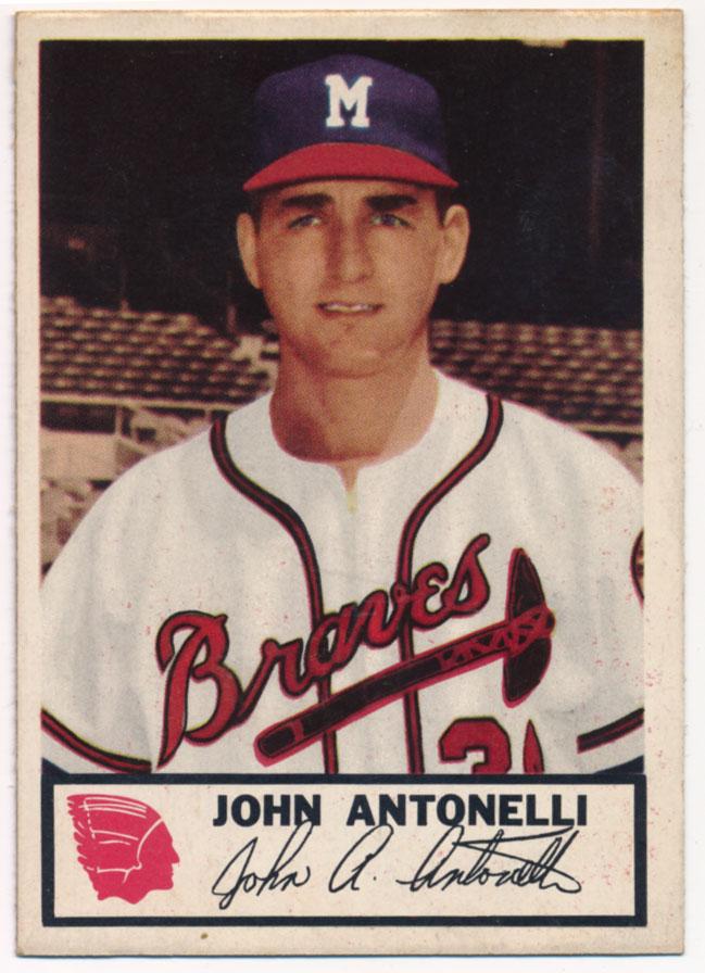 Lot #343 1953 Johnston Cookies # 2 John Antonelli Cond: NM