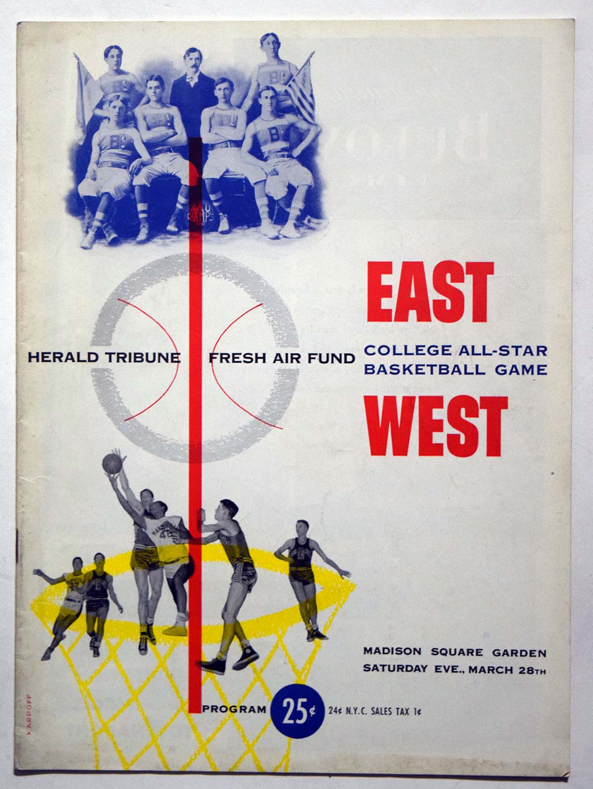 Lot #976 1953 Program  NCAA East West All Star Game (03/28/53) Cond: Ex+