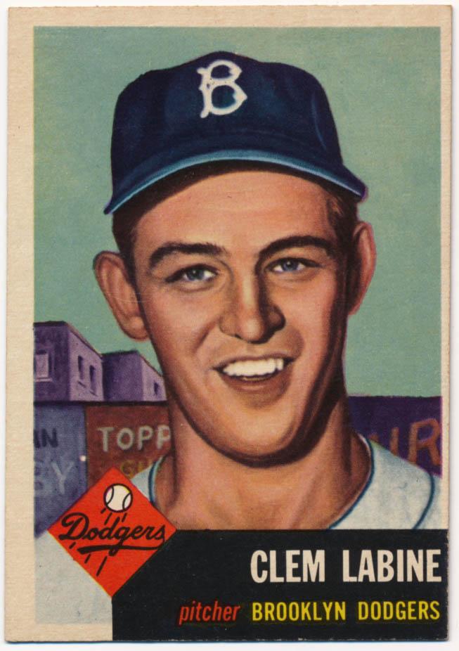 Lot #720 1953 Topps # 14 Labine Cond: Ex-Mt