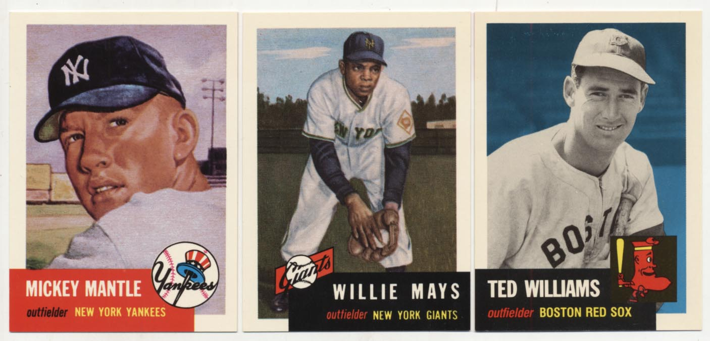 Lot #822 1993   1953 Topps Archives Complete Set Cond: Nm-Mt