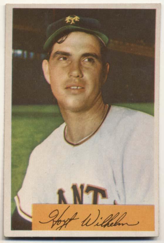 Lot #318 1954 Bowman # 57 Wilhelm Cond: NM