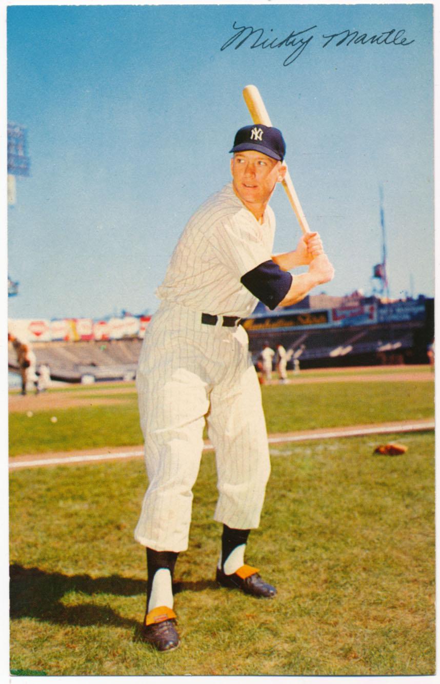 1954 Dormand 20 Mantle (batting stance, 3 1/2 x 5 1/2) Ex-Mt