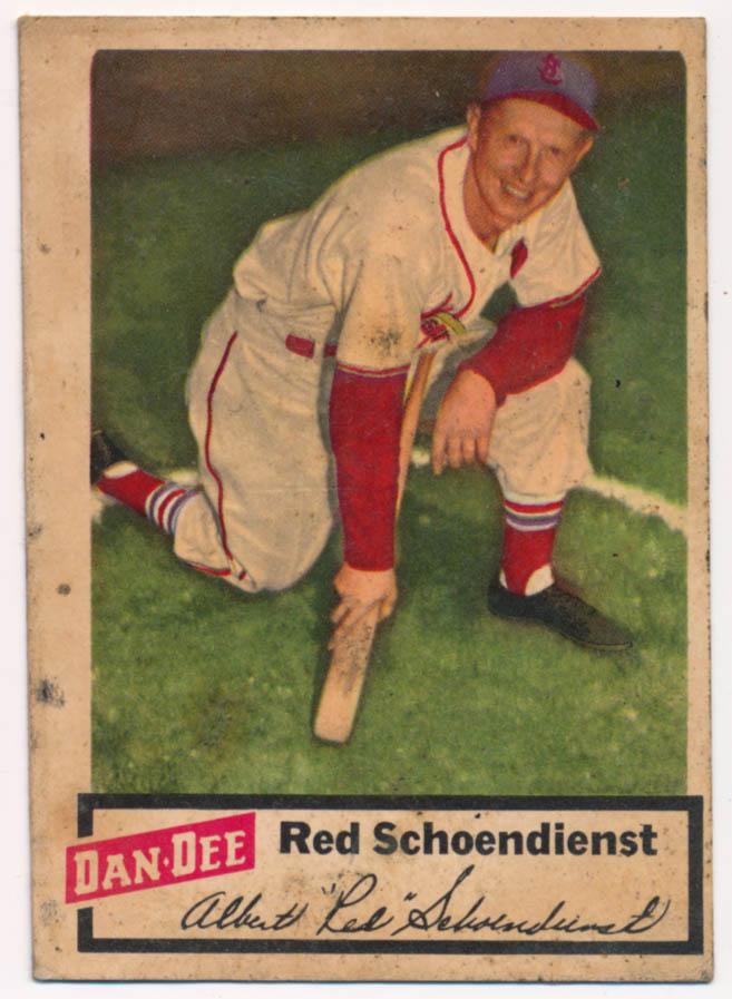Lot #533 1954 Dan Dee # 22 Schoendienst Cond: VG