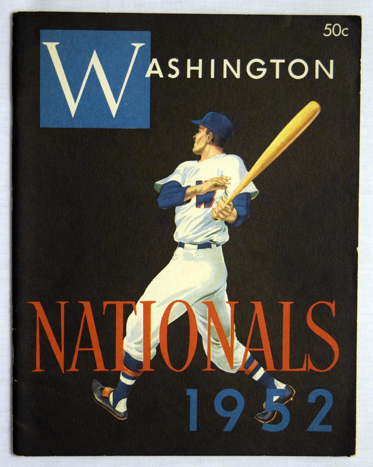 Lot #1408 1952 Yearbook  Washington Senators  Cond: Ex