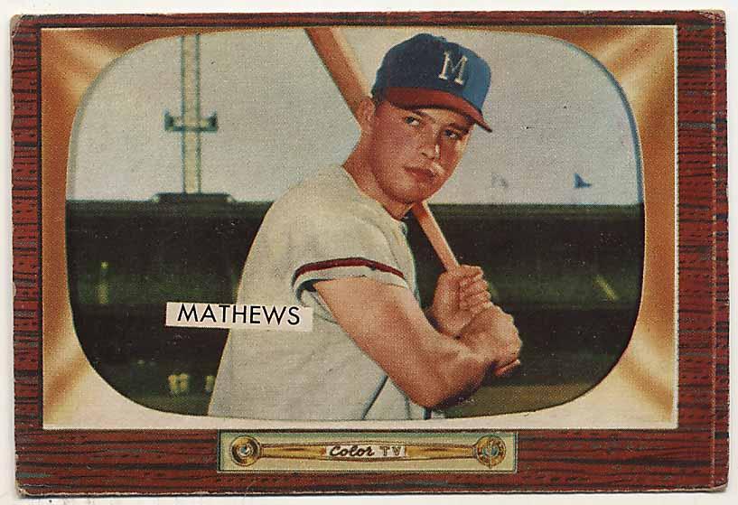 Lot #716 1955 Bowman # 103 Mathews Cond: VG