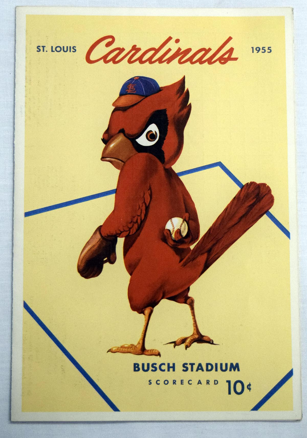 1955 Scorecard  Cardinals (unscored vs Phillies) NM